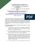27 July 2011 Raja D Roy on Foreign Mntrs' Stmnt Indgns Status CHT