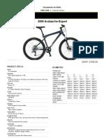 Gt Avalanche-expert Specs Sheet