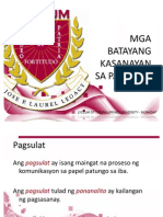 Mga Batayang Kasanayan Sa Pagsulat