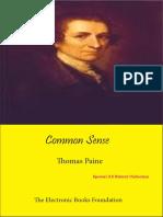 Common Sense -Thomas Paine