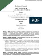 1. LEY 6 DE 1997. Marco Regulatorio del Sistema Electrico Panameño