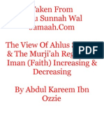 The View Of Ahlus Sunnah & The Murji'ah Regarding Iman (Faith) Increasing & Decreasing