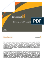 CoromandelInvestorsPresentation June 27, 2011