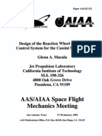 Design of the Reaction Wheel Attitude Control System for the Cassini Spacecraft