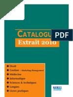 Catalague 2010 Berti Editions