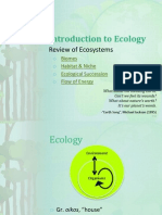Introduction to Ecology (Review)