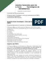 Lineamientos Generales para los Proyectos Socio Tecnológicos de INFORMATICA