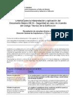 20091015091517 Criterios Para La Interpretacion y Aplicacion Del Documento Basico Cte