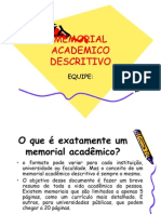 Memorial Academico Descritivo