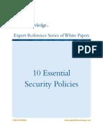 10 políticas escenciales en una empresa