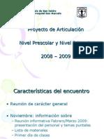 Power Point Articulacion JarDin PrimAria 20082009