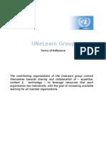 UNeLearn - ToRs