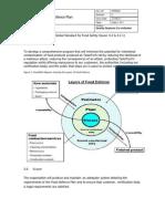 PRM020 Food Defence Plan