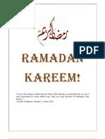 Ramadan Booklet