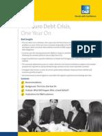 La crisis de deuda en zona euro 2011
