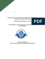 SASTRA - M.tech. ACS (Advanced Communication Systems) - Syllabus