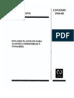 1916-82- Envases Plásticos para Aceites Comestibles y Vinagres