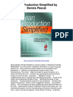 Lean Production Simplified by Dennis Pascal - 5 Star Book Review