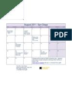 August Class Schedule- San Diego