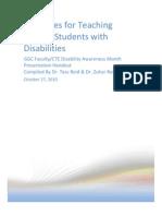 Disability Awareness Presentation Handout 102710