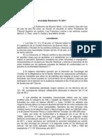 Acordada Escrutinio definitivo 10-7-11