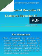 Managemantul Riscurilor Si Evaluarea Riscuri -ITC