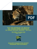Guía para Minimizar los Impactos del Turismo sobre Jaguares