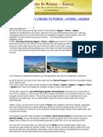 Athens One Day Cruise To Poros – Hydra – Aegina