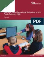 Teachers' Use of Educational Technology in U.S. Public Schools