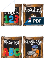 Curriculum Labels