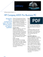 HP Compaq 6005 Pro Business PC Data Sheet Mar Update
