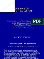 Guidance on Drug Master File System