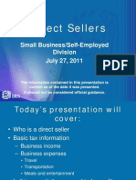 IRS Tax Advice for Direct Sellers