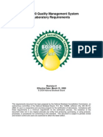 BQ-9000 Laboratory Requirements (Rev 0) 3-31-09