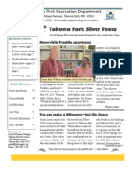 Silver Foxes Newsletter - July 2011 from the Takoma Park Recreation Department