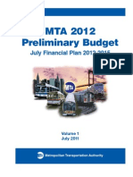 MTA July 2011 Financial Plan Vol 1