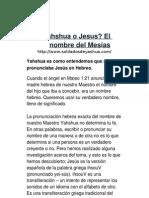 Yahshua o Jesus