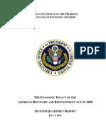 Obama Council of Economic Advisers 7th Quarter ARRA (Stimulus) Report