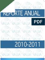 Reporte Anual VALIA 2011