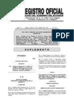 Reglamento al codigo de la Producción-Aduanas