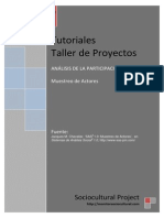 Identificación de participantes - Muestreo de Actores