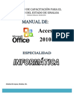 Manual de Base de Datos Access 2010
