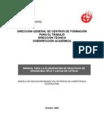 MANUAL PARA LA ELABORACIÓN DE REACTIVOS DE