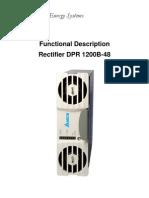 Delta DPR-1200B-48 Functional Description Manual