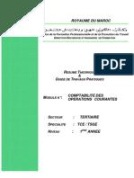 Comptabilité des opérations courantes TCE & TSGE...