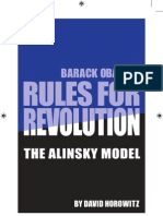 Barack Obama's Rules for Revolution - the Alinsky Model - by David Horowitz - pub 2009