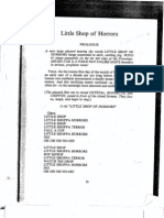 Little Shop of Horrors Script (Original Script)