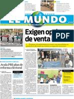 Portada El Mundo de Tecamachalco 27jul2011