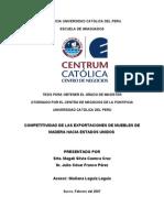 Competitividad de Las Exportaciones de Muebles de Madera