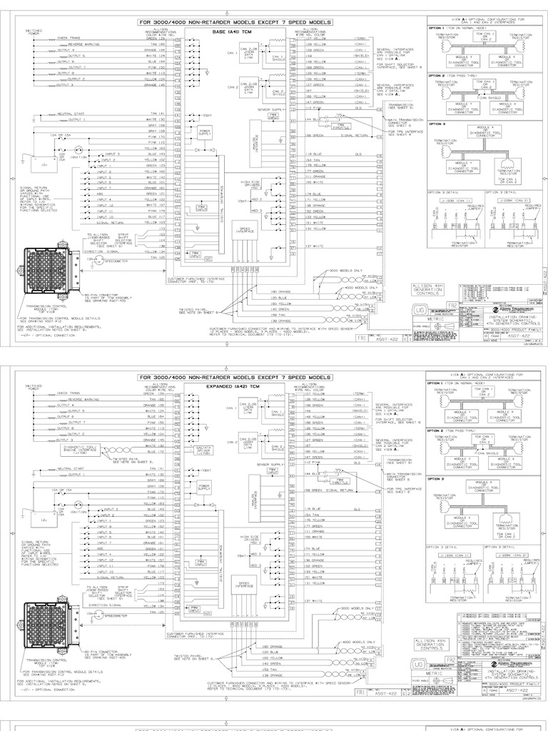 Allison Md3060 Wiring Diagram Auto Electrical 3060 Transmission Diagrams Gallery